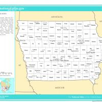 Printable US Map- Iowa Counties with Selected Cities and Towns - Printable Maps - Misc Printables