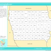 Printable US Map- Iowa Counties - Printable Maps - Misc Printables