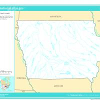 US Map- Iowa Rivers and Streams