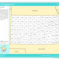 Printable US Map- Kansas Counties - Printable Maps - Misc Printables