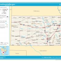 Printable US Map- Kansas General Reference - Printable Maps - Misc Printables