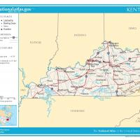 US Map- Kenctucky General Reference