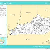 US Map- Kentucky Counties with Selected Cities and Towns