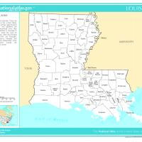 US Map- Louisiana Counties