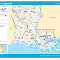 US Map- Louisiana General Reference