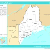 US Map- Maine Counties