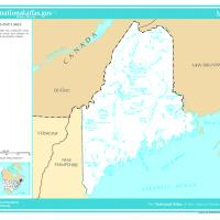 US Map- Maine Rivers and Streams
