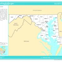 US Map- Maryland Counties
