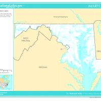 US Map- Maryland Rivers and Streams
