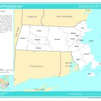US Map- Massachusetts Counties