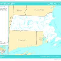 US Map- Massachusetts Rivers and Streams
