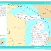 Printable US Map- Michigan Counties - Printable Maps - Misc Printables