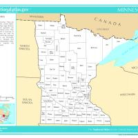 US Map- Minnesota Counties