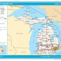 US Map- Michigan General Reference