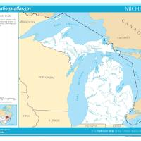 US Map- Michigan Rivers and Streams
