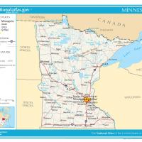 US Map- Minnesota General Reference