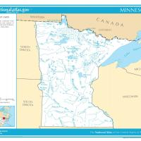 US Map- Minnesota Rivers and Streams