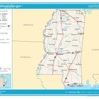 Printable US Map- Mississippi General Reference - Printable Maps - Misc Printables
