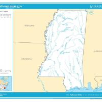 US Map- Mississippi Rivers and Streams