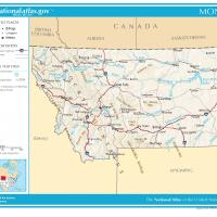 US Map- Montana General Reference
