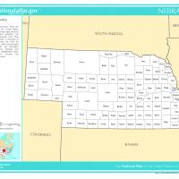 US Map- Nebraska Counties
