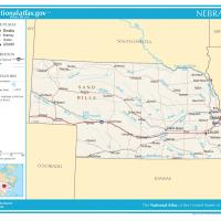 US Map- Nebraska General Reference