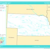 US Map- Nebraska Rivers and Streams