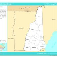 US Map- New Hampshire Counties