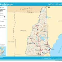 Printable US Map- New Hampshire General Reference - Printable Maps - Misc Printables