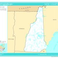 US Map- New Hampshire Rivers and Streams