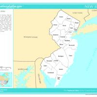 US Map- New Jersey Counties