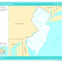 US Map- New Jersey Rivers and Streams