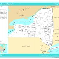 US Map- New York Counties