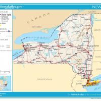 US Map- New York General Reference