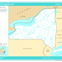 US Map- New York Rivers and Streams