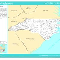 US Map- North Carolina Counties