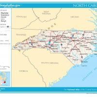 US Map- North Carolina General Reference