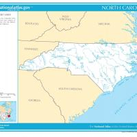 US Map- North Carolina Rivers and Streams