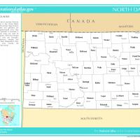 Printable US Map- North Dakota Counties with Selected Cities and Towns - Printable Maps - Misc Printables