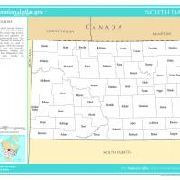 US Map- North Dakota Counties