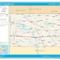 US Map- North Dakota General Reference