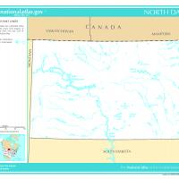 US Map- North Dakota Rivers and Streams