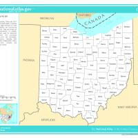 US Map- Ohio Counties