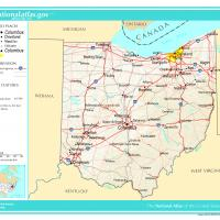 Printable US Map- Ohio General Reference - Printable Maps - Misc Printables