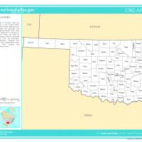 US Map- Oklahoma Counties