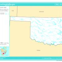 US Map- Oklahoma Rivers and Streams