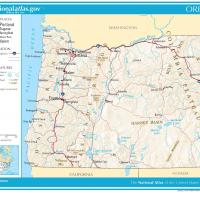 US Map- Oregon General Reference