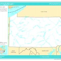 Printable US Map- Pennsylvania General Reference - Printable Maps - Misc Printables