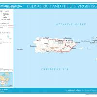 US Map- Puerto Rico and the Virgin Islands General Reference