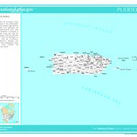 Printable US Map- Puerto Rico Counties with Selected Cities and Towns - Printable Maps - Misc Printables